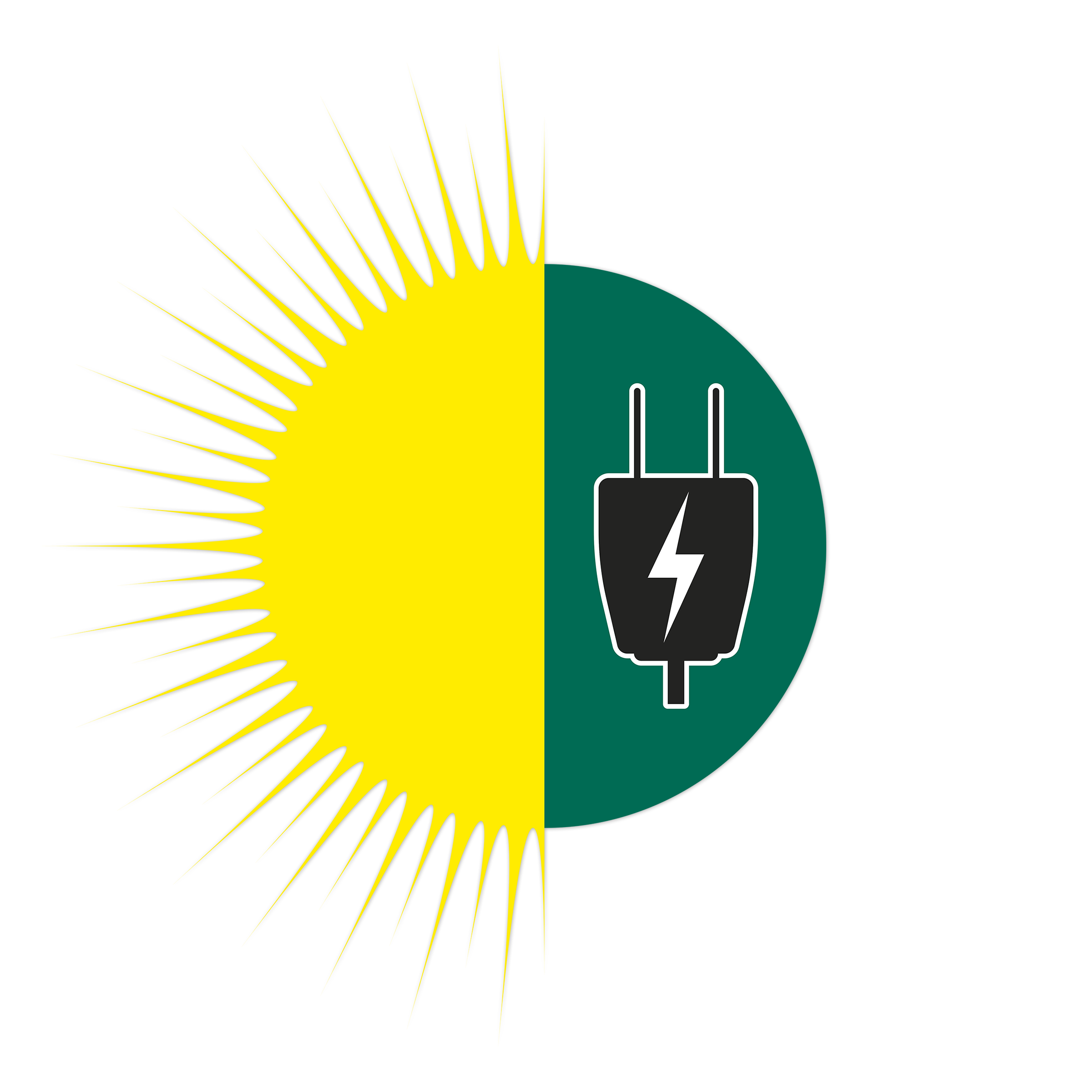 Solar and AC Power Icon