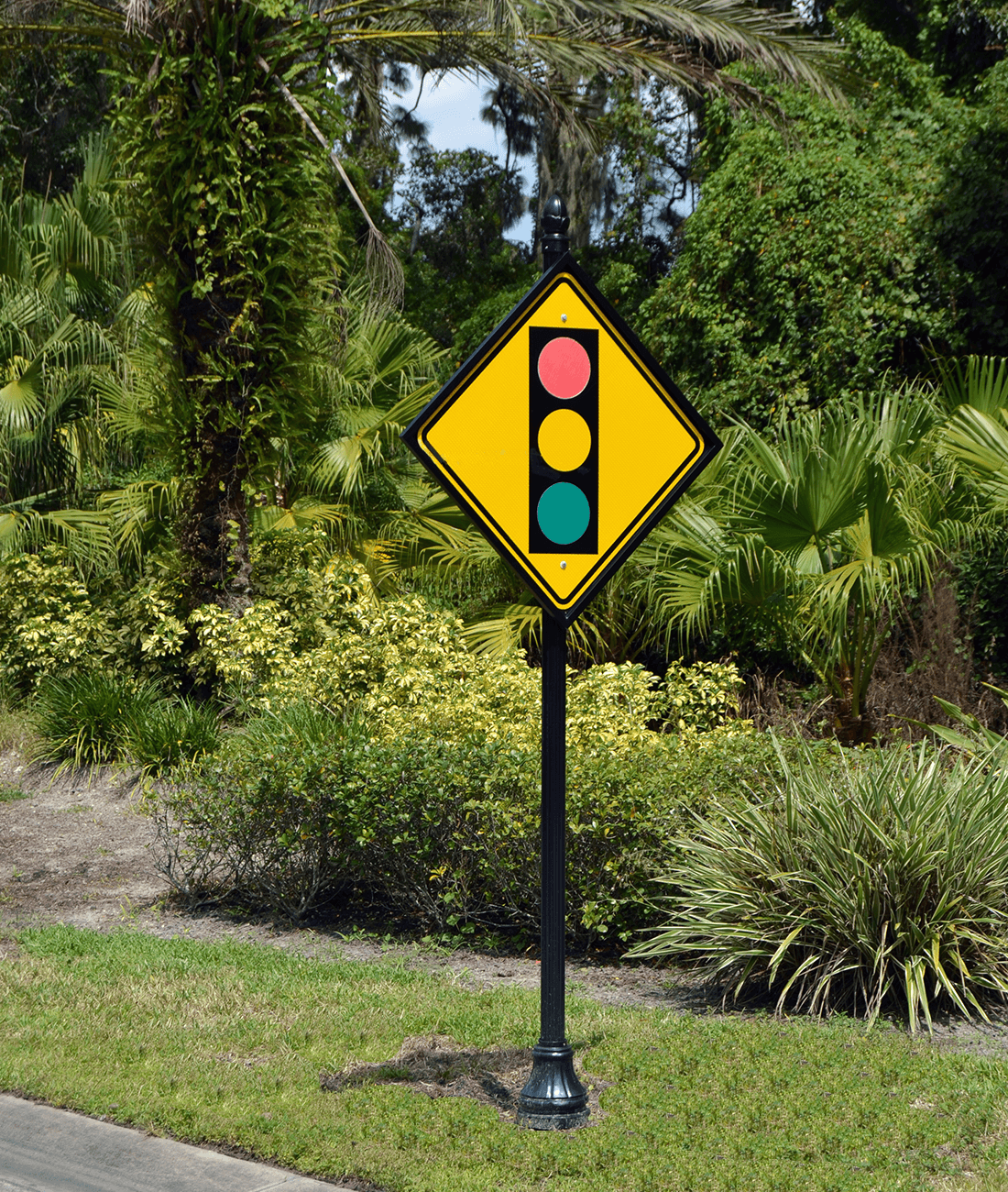 Historic Collection Signal Ahead Sign
