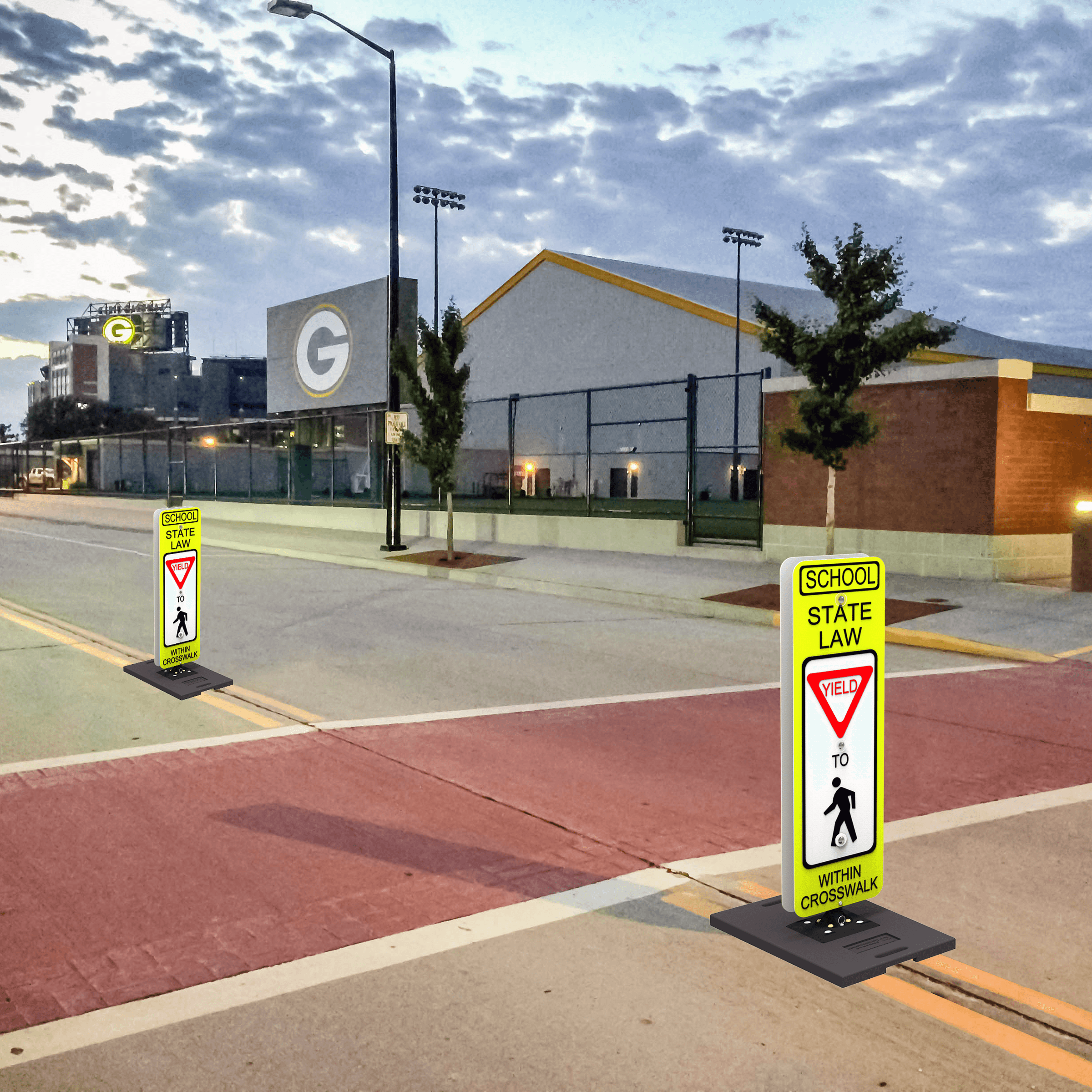 Impact Recovery Systems Pedestrian Delineators