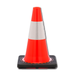 "12"" Orange Traffic Cone with Reflective Collar"
