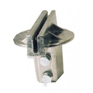 "5 1/2"" U-Channel 90° Post Cap Extruded"