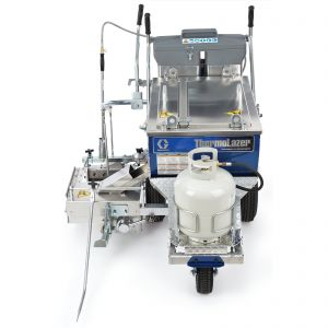 ThermoLazer 300TC (258699) Thermoplastic Striping System, 4 in SmartDie II Head On View