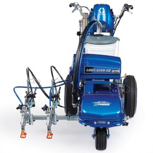LineLazer V ES 2000 (25N552) HP Automatic Series Electric Battery-Operated Airless Line Striper, 2 Auto Guns Head On View