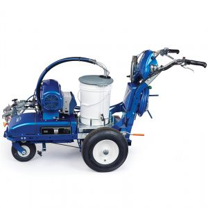 LineLazer V ES 2000 (25N560) HP Automatic Series Electric Battery-Powered Airless Line Striper, 2 Auto Guns, LazerGuide 2000 Left Side View