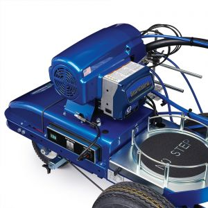 LineLazer V ES 2000 (25N552) HP Automatic Series Electric Battery-Operated Airless Line Striper, 2 Auto Guns Motor View