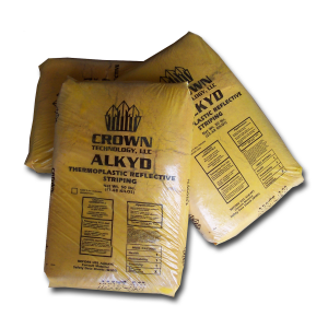 Crown EcoTherm® City/County Yellow Alkyd Granular Thermoplastic