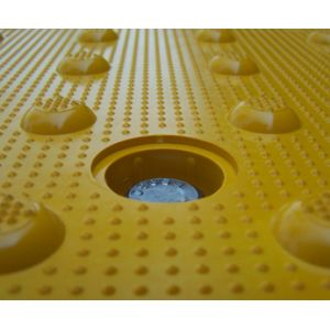 ADA Solutions Surface Mount Radial Cast-In-Place Replaceable Tactile Panels Bolt View