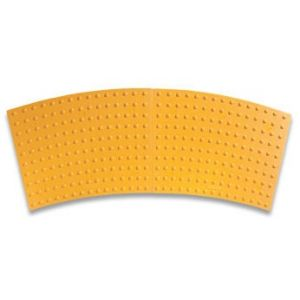 ADA Solutions Surface Mount Radial Cast-In-Place Replaceable Tactile Panels with Two Panels