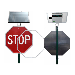 LED Enhanced Sign & Back Panel With Solar Panel