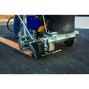 ThermoLazer 200TC (24U282) Thermoplastic Striping System, 4 in FlexDie In Use View