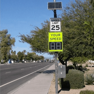 "12"" Driver Feedback Value Sign Installed"