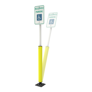 "Impact Recovery Systems Sta-Rite 78"" Sign Post With Bollard Main Image"