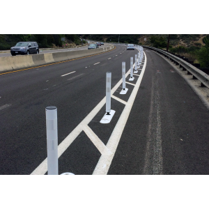 "Tuff Post® 4"" High Performance Flexible Delineators on Roadway"