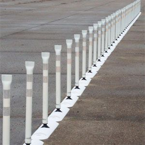 Impact Recovery Systems Tuff Curb® XLP Low Profile Traffic Posts Separator Curb with MP2 Post in White