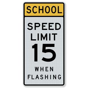 "24""x48"" 3M™ Engineering Grade Prismatic (EGP) School Speed Limit S5-1"