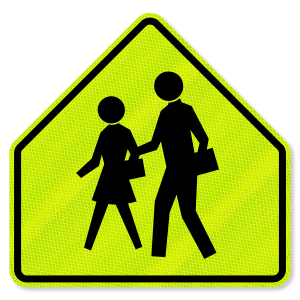 3M™ Diamond Grade Fluorescent Yellow Green School School Zone Signs S3-1