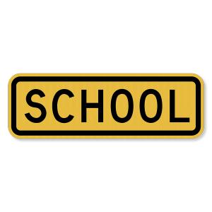 "12""x6"" 3M™ Engineering Grade Prismatic (EGP) School Plaque S4-3"
