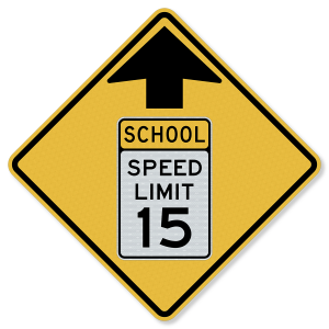 "36""x36"" 3M™ Engineering Grade Prismatic (EGP) Reduced School Speed Limit Ahead S4-5"