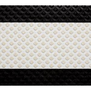 3M™ Stamark™ A380AW Series Pavement Marking Tape 4 in White with 1.5 in Black Borders