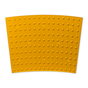 ADA Solutions Surface Mount Radial Cast-In-Place Replaceable Tactile Panels