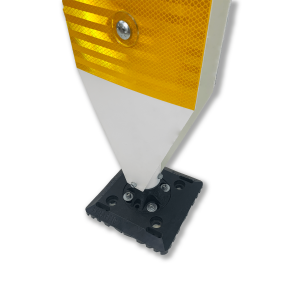 "Impact Recovery Systems 42"" Surface Mount Single Sided High Visibility Delineator Yellow Base"