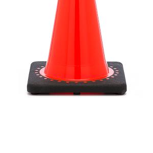 JBC Safety Plastic Orange Traffic Cone Base View