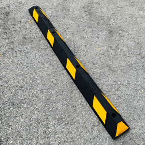 NoTrax Safety 6' Black/Yellow Recycled Rubber Car Stop