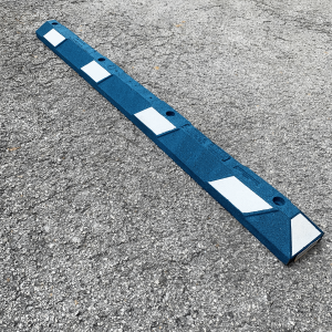 Justrite Safety 6' Blue/White Recycled Rubber Car Stop
