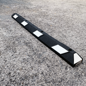 Justrite Safety 6' Black/White Recycled Rubber Car Stop
