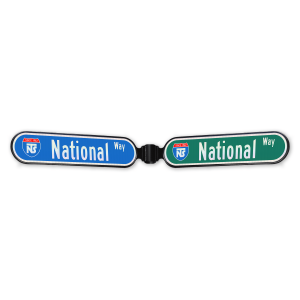 National Traffic Signs Bullnose Double Street Name Sign Frame