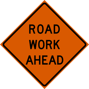 48 x 48 Road Work Ahead Vinyl Roll up Sign