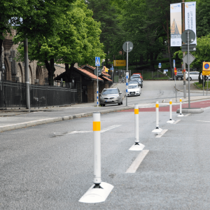 Tuff Curb® XLP Low Profile Traffic Posts Separator Curb with Delineator