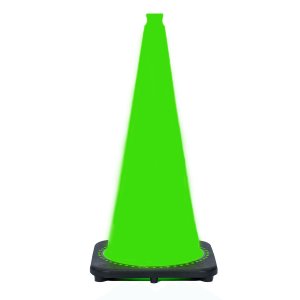 "JBC Safety Plastic 28"" Lime Green Traffic Cone"
