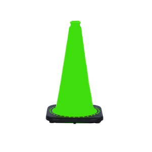 "JBC Safety Plastic 18"" Lime Green Traffic Cone"