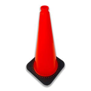 "JBC Safety Plastic 12"" Orange Traffic Cone angle"