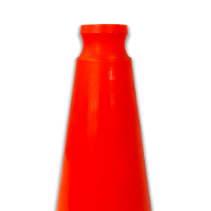 JBC Safety Plastic Orange Traffic Cone Indented Handle angle