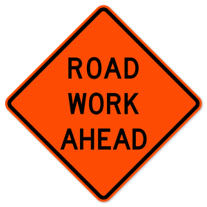 National Traffic Signs W20-1-36-DGFO Road Work Ahead Sign