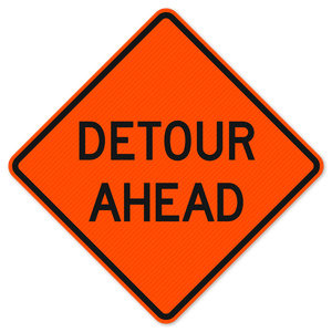 National Traffic Signs W20-2-36-DGFO Detour Ahead Sign