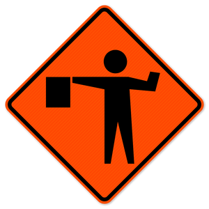 National Traffic Signs W20-7a-36-DGFO Flagger Symbol Sign