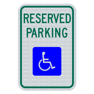 Reserved Parking Sign With No Arrow 3M Engineering Grade Prismatic Sheeting