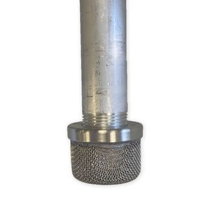 Inlet Strainer, SST Cap Double Screen, 1 in For Graco LineLazer 3900/5900 In Use