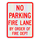 No Parking Fire Lane by Order of the Fire Department Sign 3M High-Intensity Grade Prismatic Sheeting