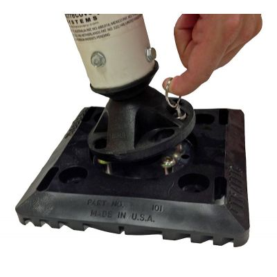 "8""x8"" Surface Mount Quick Release Base with Post"