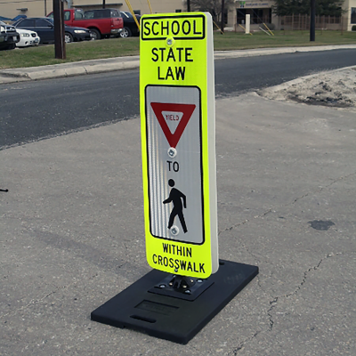 Impact Recovery Systems Ped-in-a-Bag® Portable School State Law Stop For Pedestrians Main Image