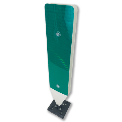 "Impact Recovery Systems 42"" Surface Mount Single Sided High Visibility Delineator Green Panel"