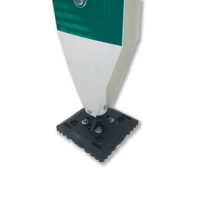 "Impact Recovery Systems 42"" Surface Mount Single Sided High Visibility Delineator  Green Base"