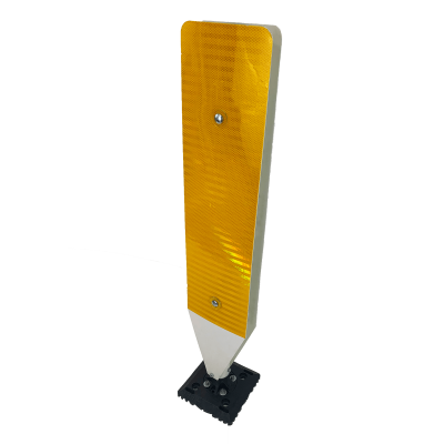 "Impact Recovery Systems 42"" Surface Mount Single Sided High Visibility Delineator Yellow"