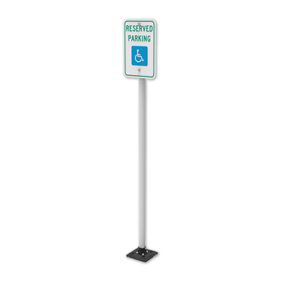 """Impact Recovery Systems Sta-Rite 78"""" Sign Post Without Bollard"""