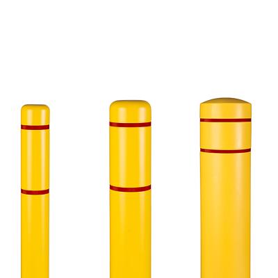 Innoplast Bollard Covers Yellow w/ Red Reflective Stripes Bollard Cover