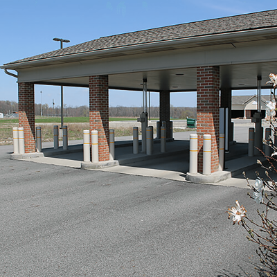 Innoplast Gray Bollard Covers with Reflective Stripes